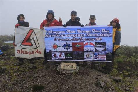 Kaos 7 Seven Summits sukses pendakian gunung binaiya 3027 mdpl eunike pakiding
