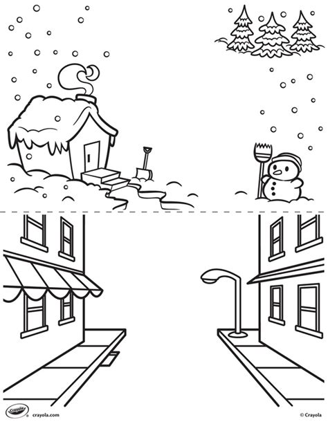 crayola coloring pages winter first pages winter and street crayola com au