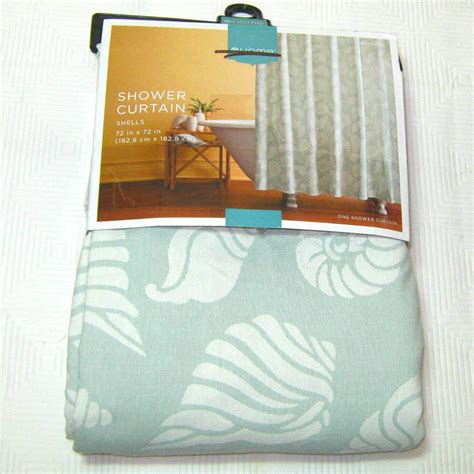 beach shower curtain target target home shells jacquard fabric shower curtain pale