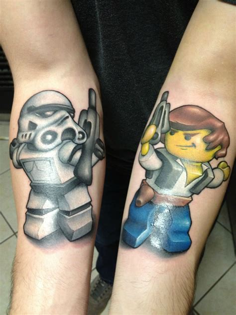 starwars tattoos lego wars tattoos stormtrooper han lego