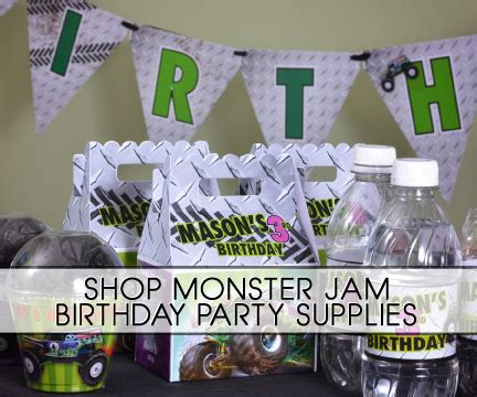 grave digger monster truck party supplies monster jam grave digger truck party supplies