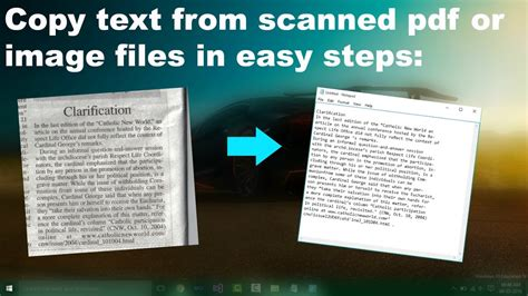 copy text   image  scanned  files  easy steps
