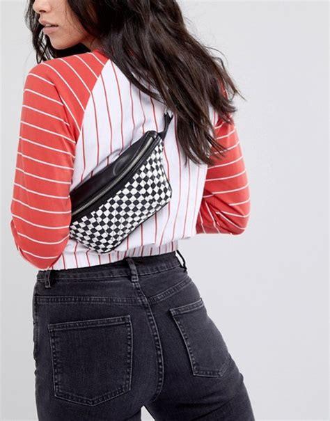 Asos Bum Bag asos asos quilted bum bag in checkerboard print