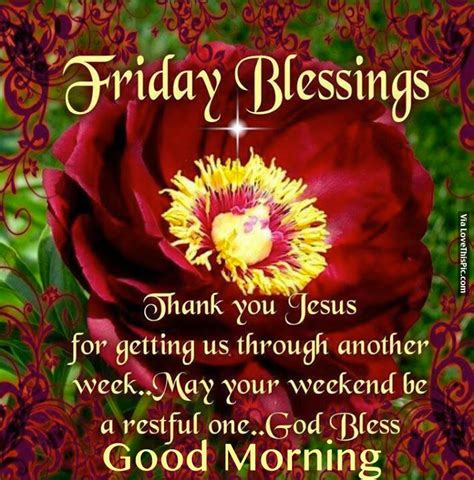 Friday Blessings, Thank You Jesus For Getting Us Through