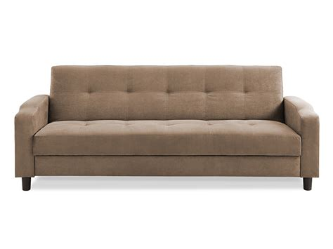 convertable couches reno convertible sofa light brown by serta lifestyle