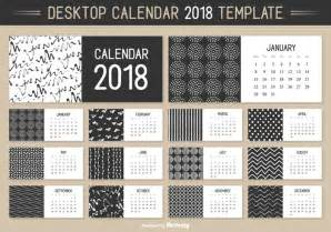Calendar 2018 Template Vector Monthly Desktop Calendar 2018 Vector Template