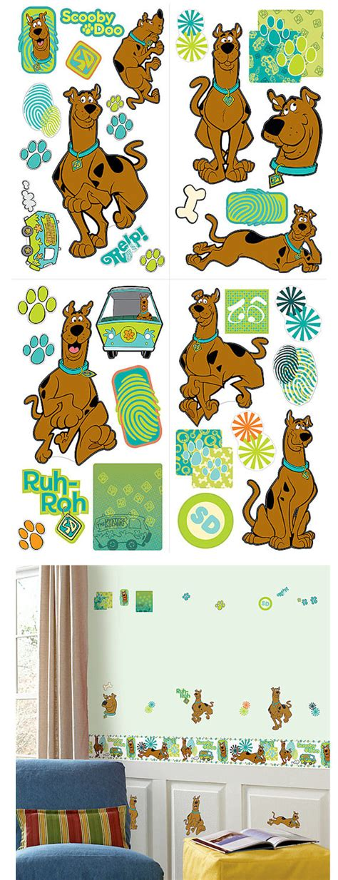 scooby doo wall stickers scooby doo wall sticker appliques