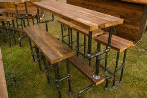 Iron Pipe Furniture Industrial Bar Stool Made From Cedar Or Barn Wood And