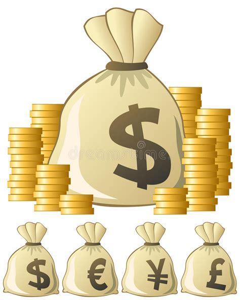 clipart soldi sacchetto dei soldi illustrazione vettoriale