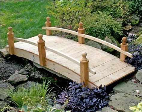 Backyard Bridges by Garden Bridges Wooden Bridge Designs Custom Wood