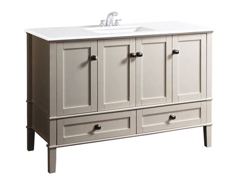 simpli home chelsea 49 quot bath vanity soft white bathroom