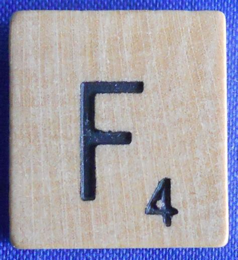 scrabble replacement parts single scrabble wood letter f tile one only