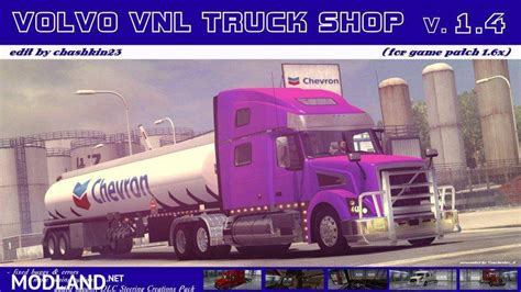 volvo truck shop near volvo vnl truck shop v1 4 mod for american truck simulator