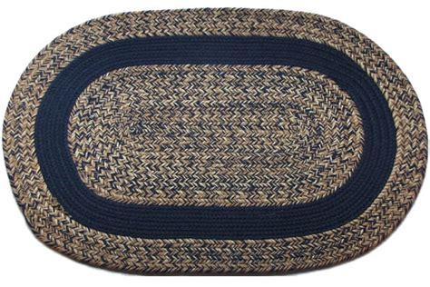 navy braided rug blend navy navy band oval braided rug