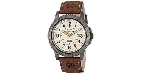 rugged analog timex s t499909j expedition rugged metal field analog display analog quartz brown