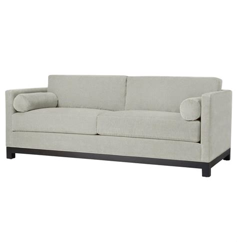 84 inch sectional sofa cosmo modern classic silver grey linen tailored sofa 84