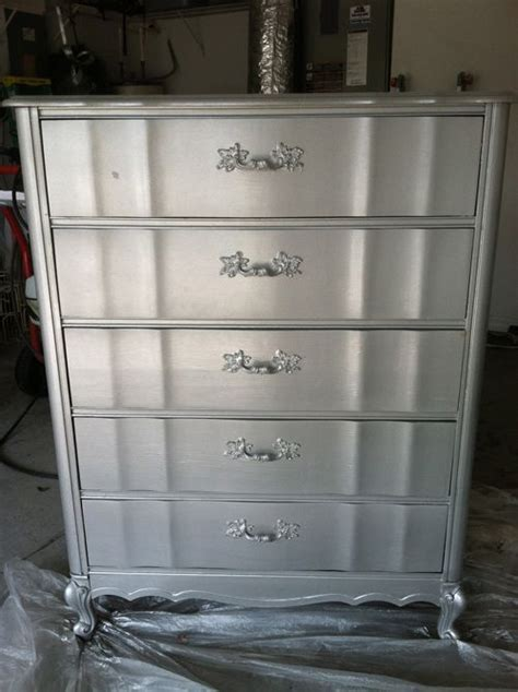 Silver Painted Furniture by Metallic Painted Furniture Crafts