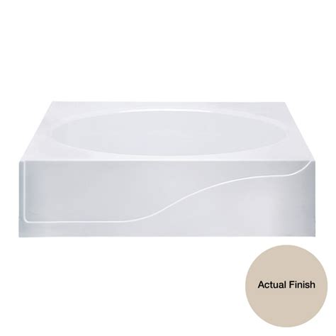 aqua glass bathtubs shop aqua glass dark bone gelcoat fiberglass oval in