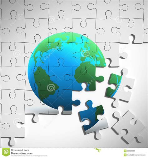 earth day printable jigsaw puzzles 3d earth jigsaw puzzle stock illustration image of