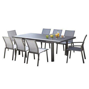 table de jardin aluminium bois r 233 sine leroy merlin