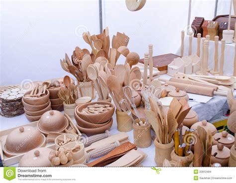 Handmade For Sale - handmade wooden kitchen utensil tools market fair stock