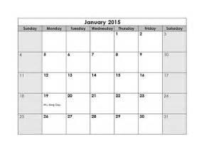 2015 Monthly Calendar   Free Printable Templates