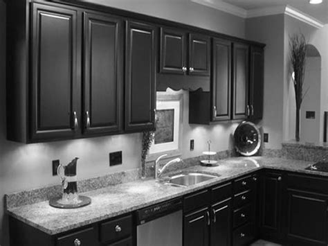Dark Kitchen Cabinets With Grey Walls Mybktouch With