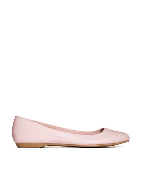 pink new look joinery pink flat shoes at asos