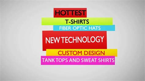 custom light up shirts create custom light up clothing promotional t shirts