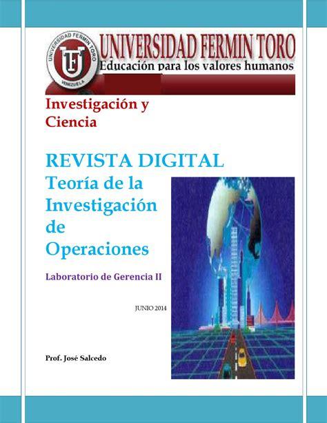 Revista Digital I E Investigaci N Y Educaci N | revista investigaci 243 n de operaciones by edhy issuu
