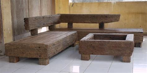 Garden Furniture Made From Railway Sleepers by Railroad Tie Mantle Outdoor Corner Suite Made From