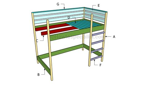how to build loft bed how to build a loft bed howtospecialist how to build step by step diy plans