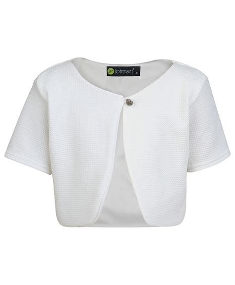 Cardigan Anak Sweater Kid Bolero 2 textured material sleeve bolero cropped cardigan top 3 14 years ebay