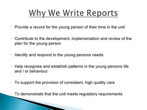 How To Write A Professional Report Template