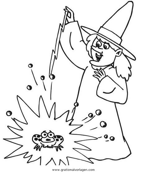 zauberin  gratis malvorlage  fantasie zauberer ausmalen