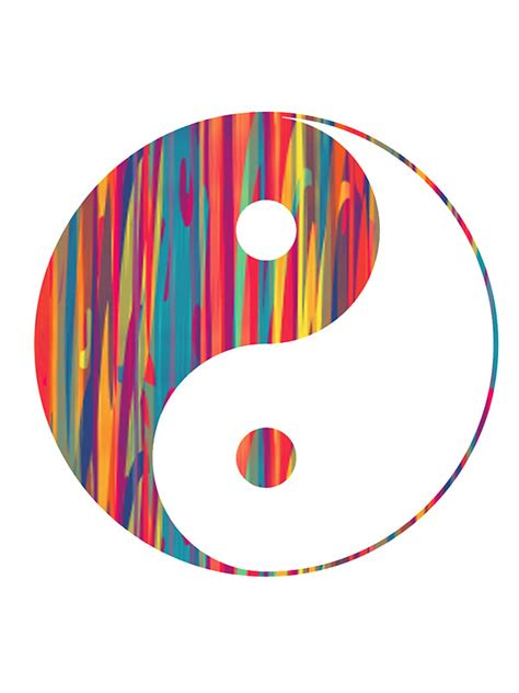 colorful yin yang quot colorful drip yin yang quot stickers by adjsr redbubble