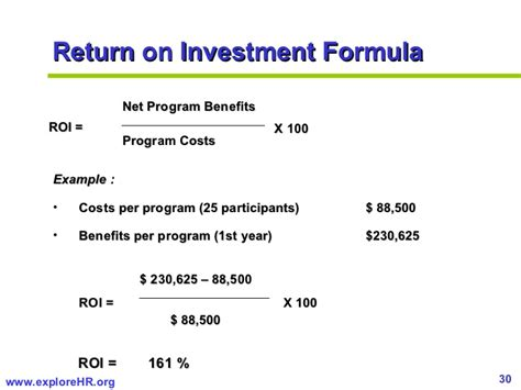 Unit Credit Benefit Formula Measuring Roi Of