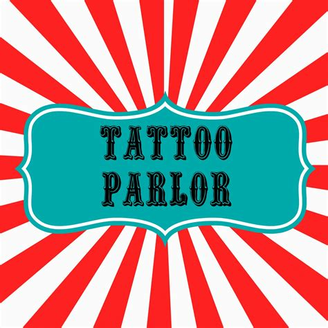 tattoo parlor signs carnival boardwalk birthday party sneak peek eclectic
