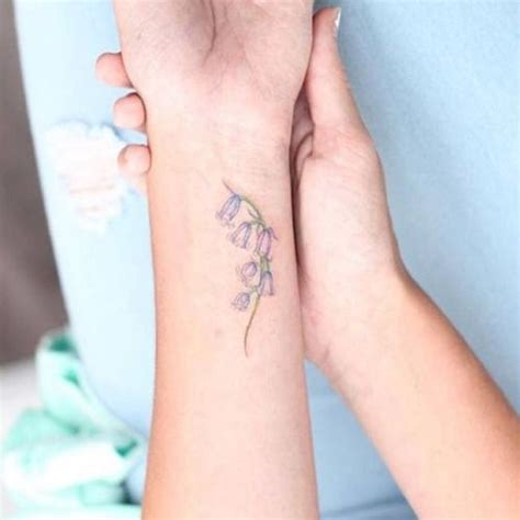 small flower tattoos on wrist bluebell flower in memory of my tattoos