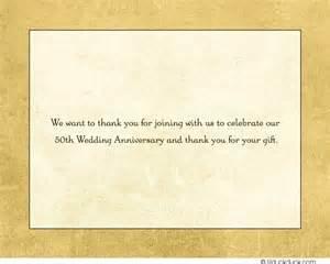 50th wedding anniversary thank you cards gold custom