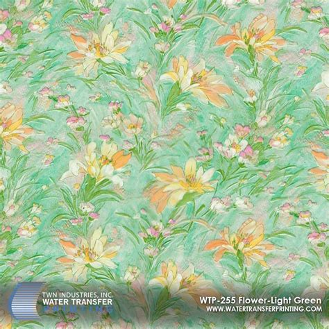 Pattern Hydrographic Flower L50cm flower light green hydrographic wtp 255 only at twn industries