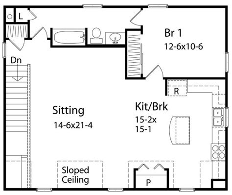 1 bedroom house plans with garage 1 bedroom house plans