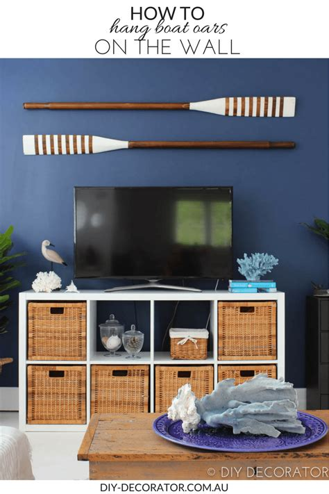 boat without oars how to hang boat oars on the wall diy decorator