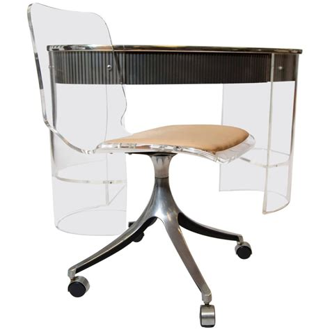 modern swivel chair with wheels chrome metal based swivel chair with wheels and acrylic