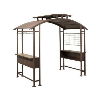 hton bay 8 ft x 5 ft walker grill gazebo l gz411pst