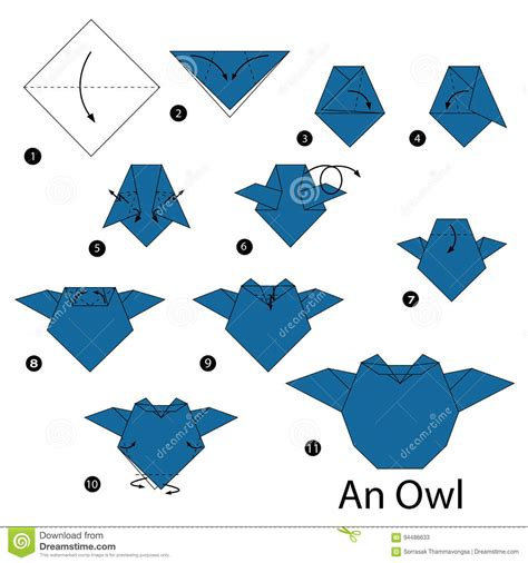 Origami Owl Step By Step - step by step how to make origami an owl