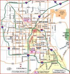 Map Of Las Vegas Area by Maps Scenic Airlines