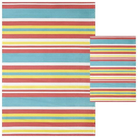 plastic area rug multi stripe outdoor woven area rug 5x7 backyard plastic mat patios and curb appeal