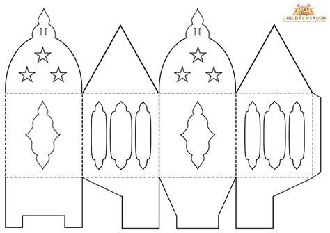lantern template printables how to make lantern gift boxes childrensalon
