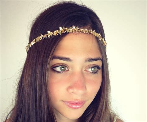 Headpiece Headband Chain chain headpiece chain headdress chain gold or a